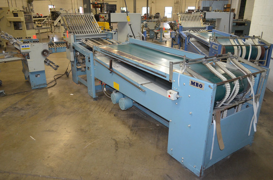 MBO Model B26-1-26/4 Continuous Feed Folder