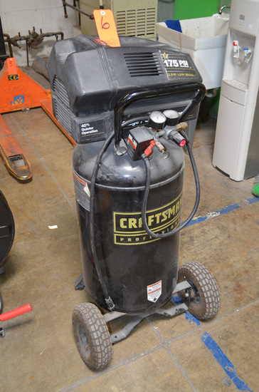 Craftsman 3.5 hp Reciprocal Air Compressor, 175psi Mounted on Vertical 25 G