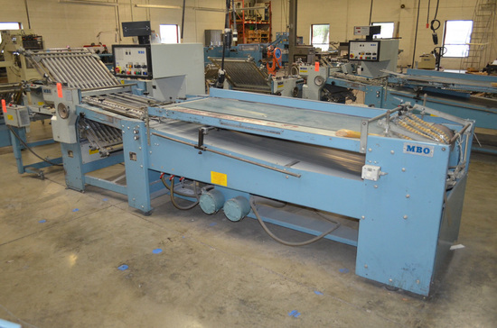 MBO Model B26-1-26/4 Continuous Feed Folder with Counter and Controls; Seri