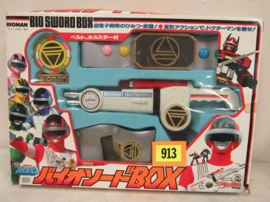 Rare Vintage Bandai Pre Power Rangers Bioman Bio Sword Box