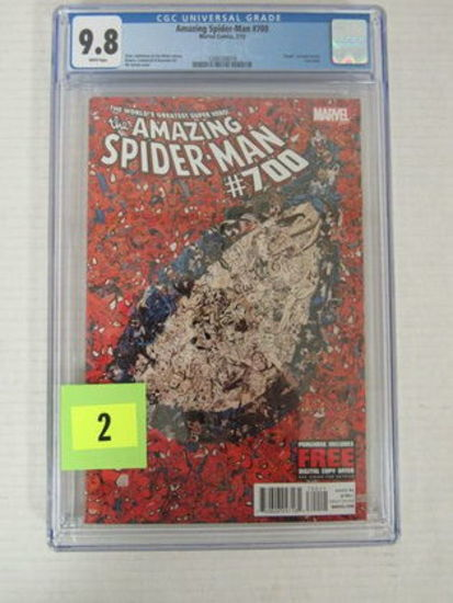 Amazing Spiderman #700 (2013) Key Death Of Peter Parker Cgc 9.8