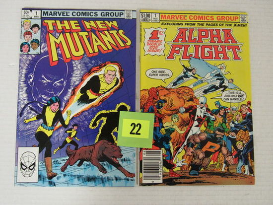 New Mutants #1 & Alpha Flight #1 Marvel Bronze Age Issues