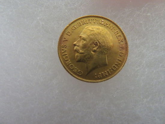 Excellent 1914 Georgivs V D.G. Britt Full Sovereign Gold Coin