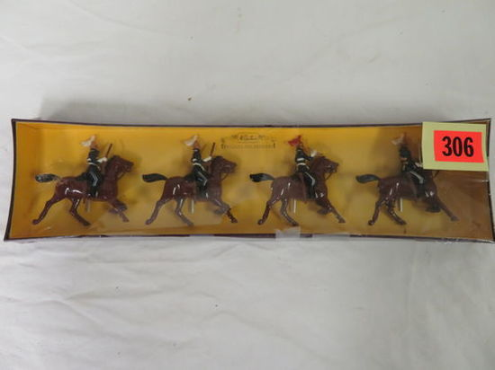 MIB Set of (4) Britains 6th Dragoon Guards Hand Painted Lead Soldiers