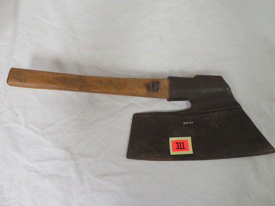Antique Hand Forged Goosewing Broad Axe w/ Makers Mark