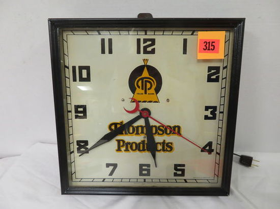 Vintage Thompson Products Advertsing Wall Clock