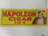 Dated 1974 Napoleon Cigar 10 Cent Tin Tacker Advertising Sign