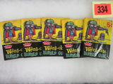 Group of (5) 1966 Fleer Weird-Oh's Non Sport Card Packs