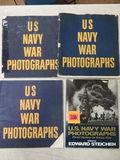 Lot of (4) WWII U.S. Navy War Photograph Books
