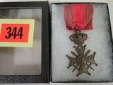WWII Belgian Croix Le Guere Medal w/ Ribbon