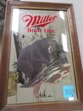 Miller High Life Black Bear Advertising Mirror