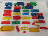 Collection of (30+) Vintage Plastic Cars and Service Station Accessories