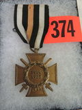 WWI German Hindenburg Cross Medal w/ Ribbon