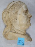 Beautiful Chalkware Sculpted Profile of Mother