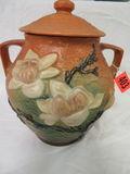 Roseville Pottery Pink Magnolia Cookie Jar (2-8