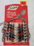 Vintage Scripto Midgette Keychain Pencil NOS Advertising Store Display Rack