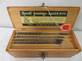 Russell Jennings Auger Bits Set No. 100 In Original Stanley Wooden Box
