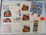 Group of WWII U.S. Propaganda Ephemera Inc. Anti-Nazi / Axis Stationary. Cover envelopes and more