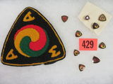 1940s-1950s American Motorcycle Association Pins and Patch