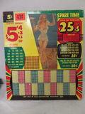 1940s Era Pin-Up Girl Punchboard