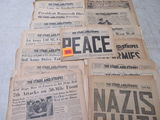 Grouping of 50 Issues, 1945 Stars & Stripes U.S. Armed Forces Newspapers