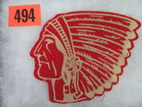 Vintage Red Indian Oil Jacket Patch