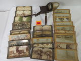 Antique Monarch Stereoviewer and Large Collection of Stereoview Cards
