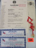 Rare WWII War Dog Defense Fund Document Kit
