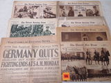 Lot of WWI Newspapers / Rotogravure Supplement Sections