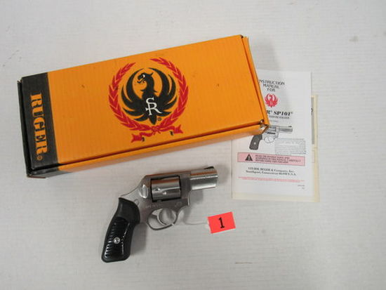 Outstanding Ruger SP101 Stainless Hammerless .357 Magnum Revolver in Original Box
