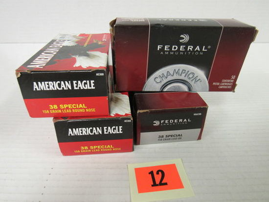 4 Boxes (200 Rds) Assorted NOS 38 Special Ammo