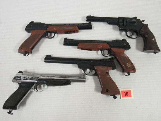 Lot (5) Vintage Daisy & Crosman Co2 BB & Pellet Pistols