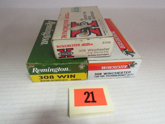 3 Full Boxes (60 Rds) NOS 308 Win Ammo