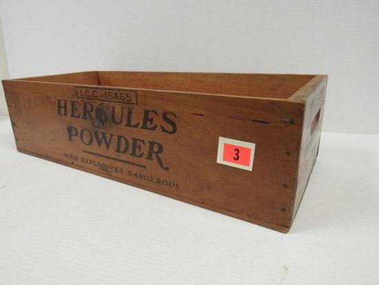 Antique Hercules Powder 50 LB. Wooden Shipping Crate