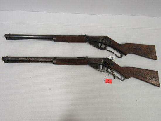 Lot (2) Vintage Daisy (Plymouth, MI) #111 Model 40 Red Ryder Carbine BB Guns