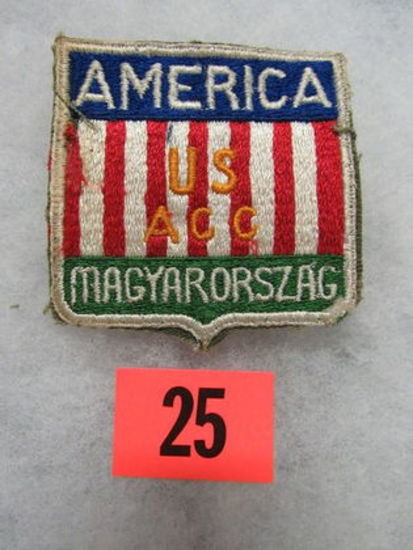 Wwii Rare U.S. Army/hungary Patch