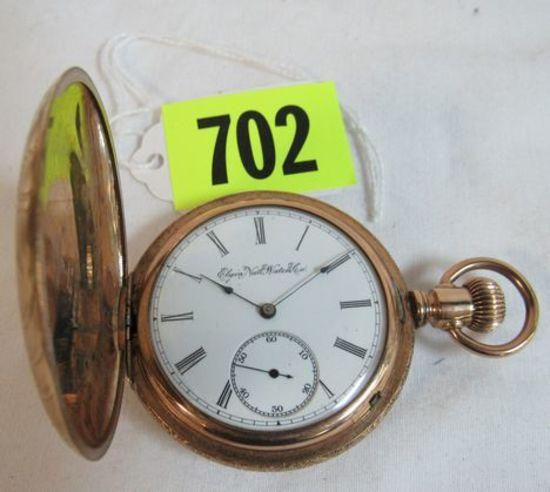 Antique 1896 Elgin 7 Jewel Pocket Watch