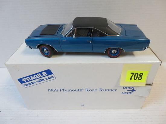 Danbury Mint 1968 Plymouth Road Runner 1:24 Scale Diecast Car, MIB