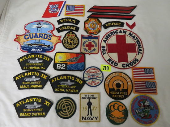 Mixed Lot of Patches Inc. Military, Red Cross, and More