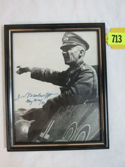 Autographed Photo of German Nazi General Von Manteuffel