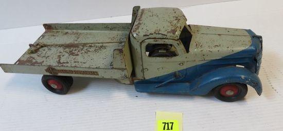 "Antique Buddy L Pressed Steel 20"" Excavator Truck"