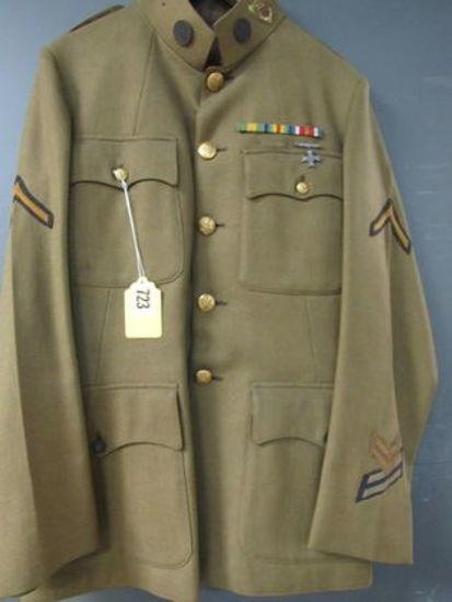 WWI Era US Military Infantry Tunic w/ Ribbon Bar, Sharpshooter Medal