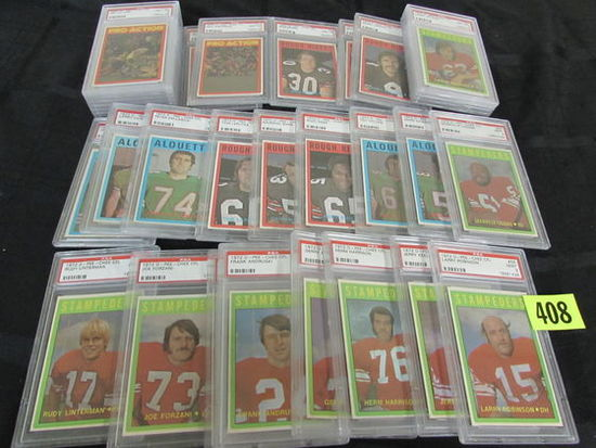Lot (34) 1972 O-pee-chee Football Cards All Psa 8 Or 9