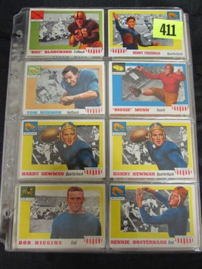 Lot (34) Mostly Diff. 1955 Topps All-american Football (incl. Harmon Rc)
