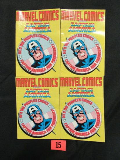 (4) 1987 Captain America Mini-comics