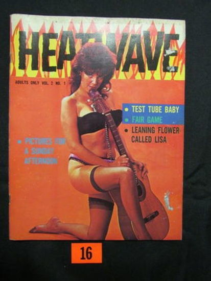 Heatwave C.1966 Mens Pin-up Magazine