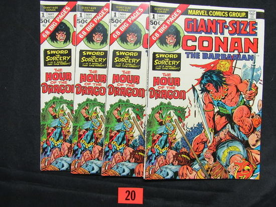Giant Size Conan #1/1974 Lot Of (4)