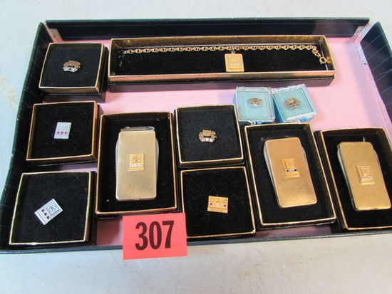 Grouping of Asst. Vintage GM, Chevy, Cadillac, etc. Service Pins/ Awards