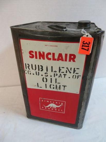 Original Sinclair 5 Gallon Square Oil Can