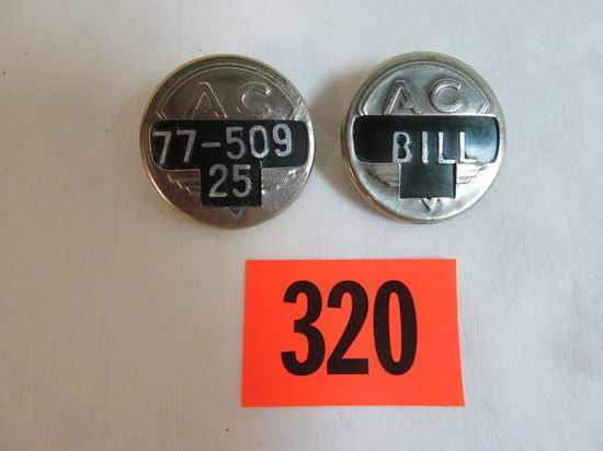 Lot of (2) AC Employee Worker Badges